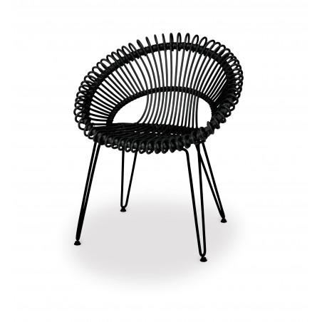 Vincent Sheppard Roxy Garden Dining Chair - Black