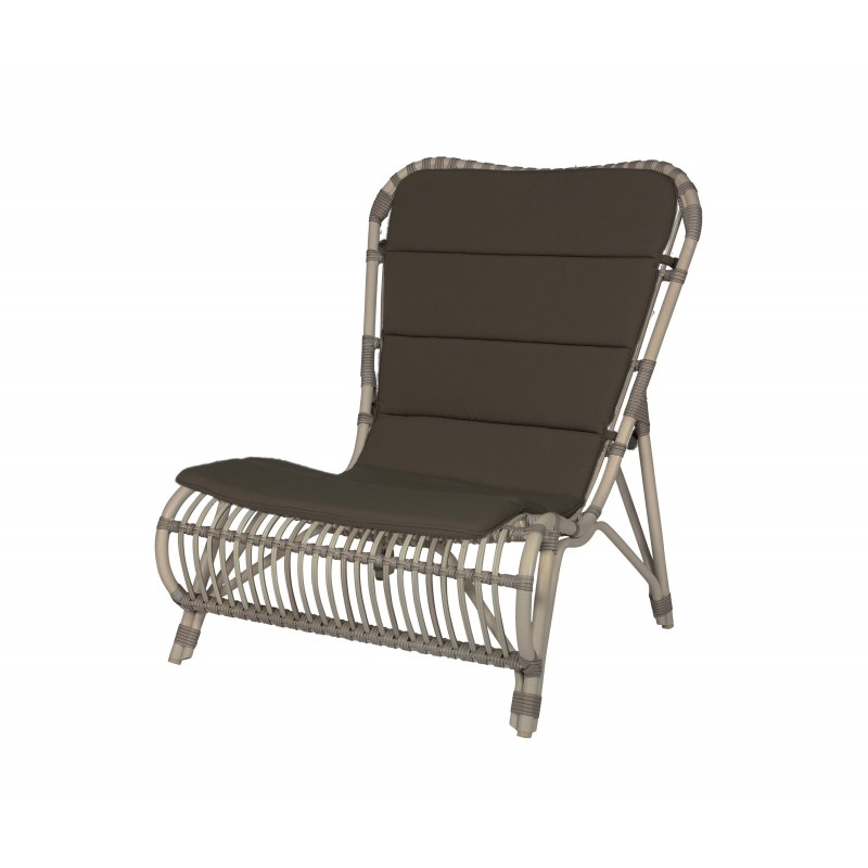 Vincent Sheppard Lucy White Wicker Outdoor Lounge Chair