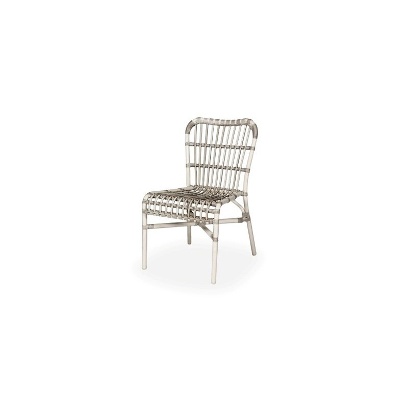 Vincent Sheppard Lucy White Wicker Outdoor Dining