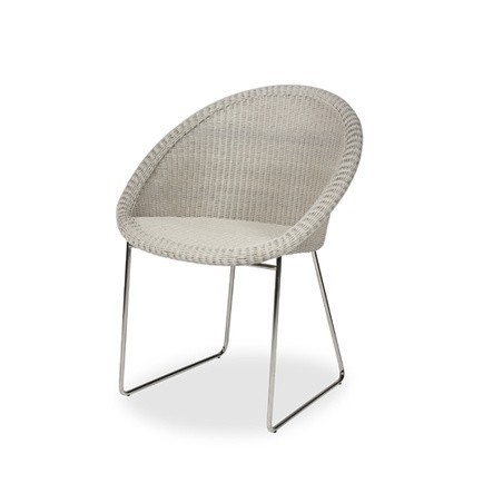 Vincent Sheppard Gipsy Outdoor Dining Chair Stainless Steel Sled Base