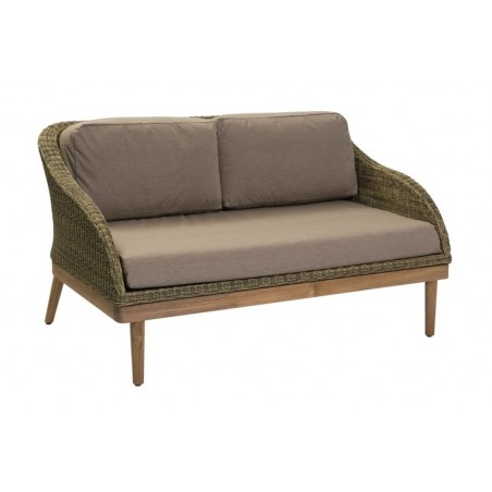 Safari Outdoor Small Sofa | Rattan and Teak