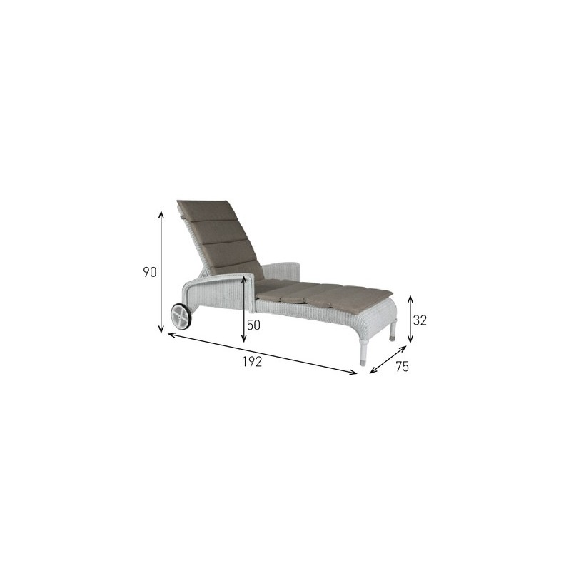 Vincent Sheppard Dovile Lounger with Cushion