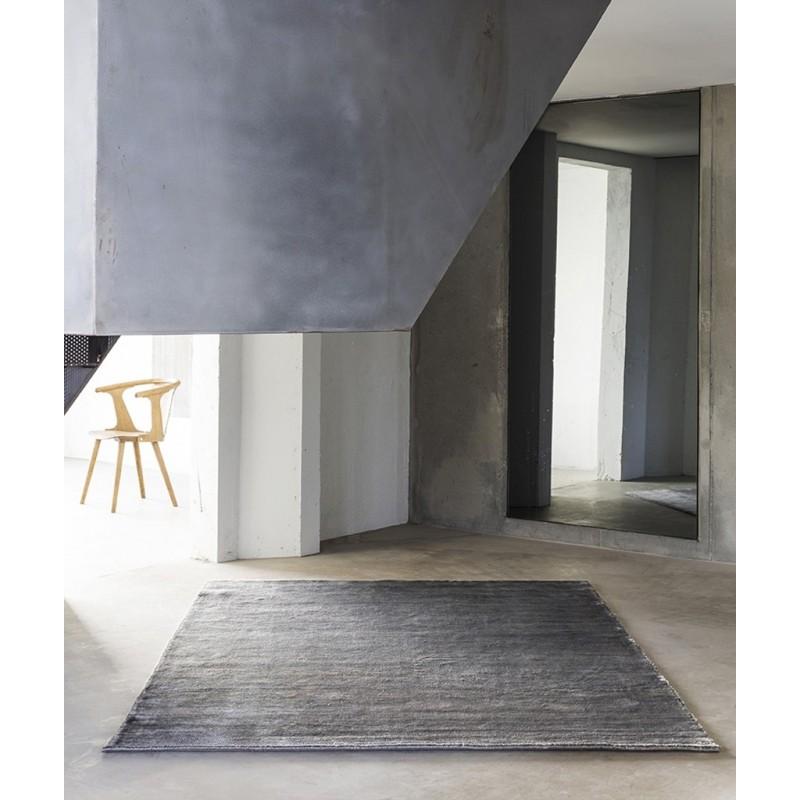 Massimo 100% Grey Bamboo Silk Rug   3 Sizes