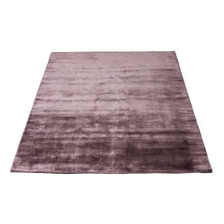 Massimo 100% Plum Bamboo Silk Rug | 6 Sizes
