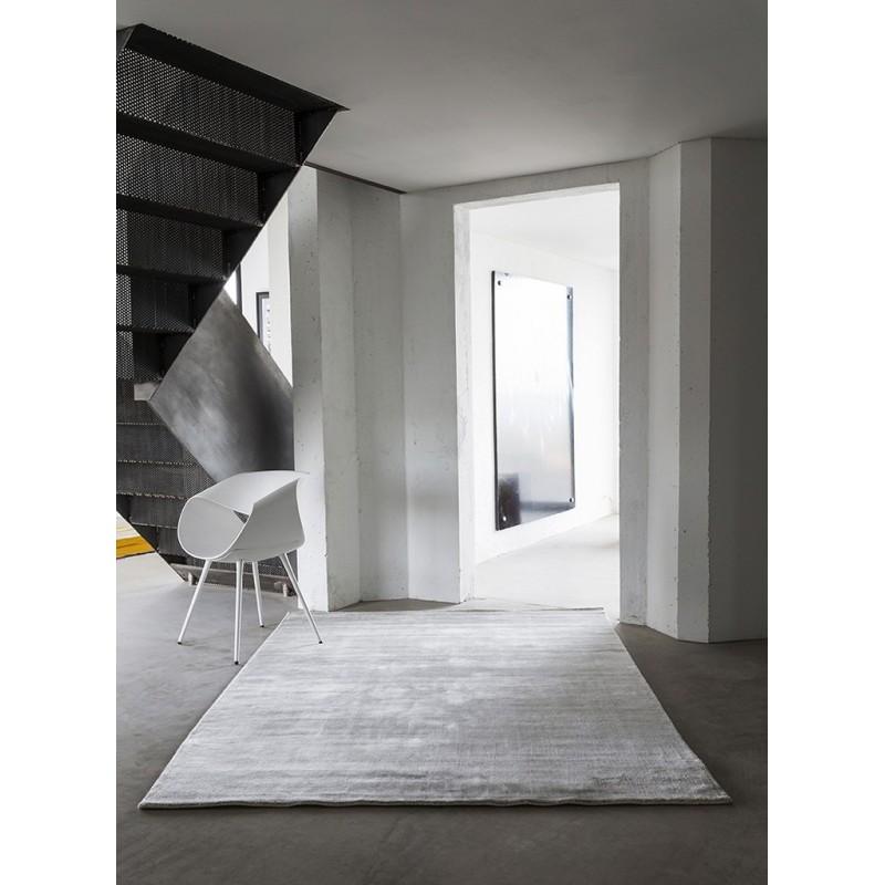 Massimo 100% Light Grey Bamboo Silk Rug | 6 Sizes