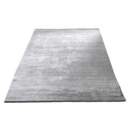 Massimo 100% Light Grey Bamboo Silk Rug | 6 Sizes