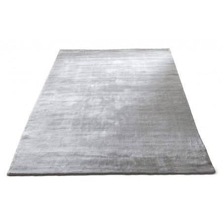 Massimo 100% Light Grey Bamboo Silk Rug   6 Sizes