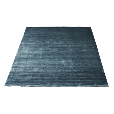 Massimo 100% Stiffkey Blue Bamboo Silk Rug | 6 Sizes