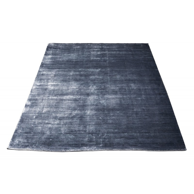 Massimo 100% Steel Black Bamboo Silk Rug | 6 Sizes