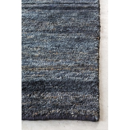 Massimo Black Hemp Tribeca Rug | 3 Sizes