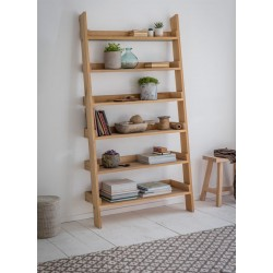 Hambledon Raw Oak Wide Ladder Shelf