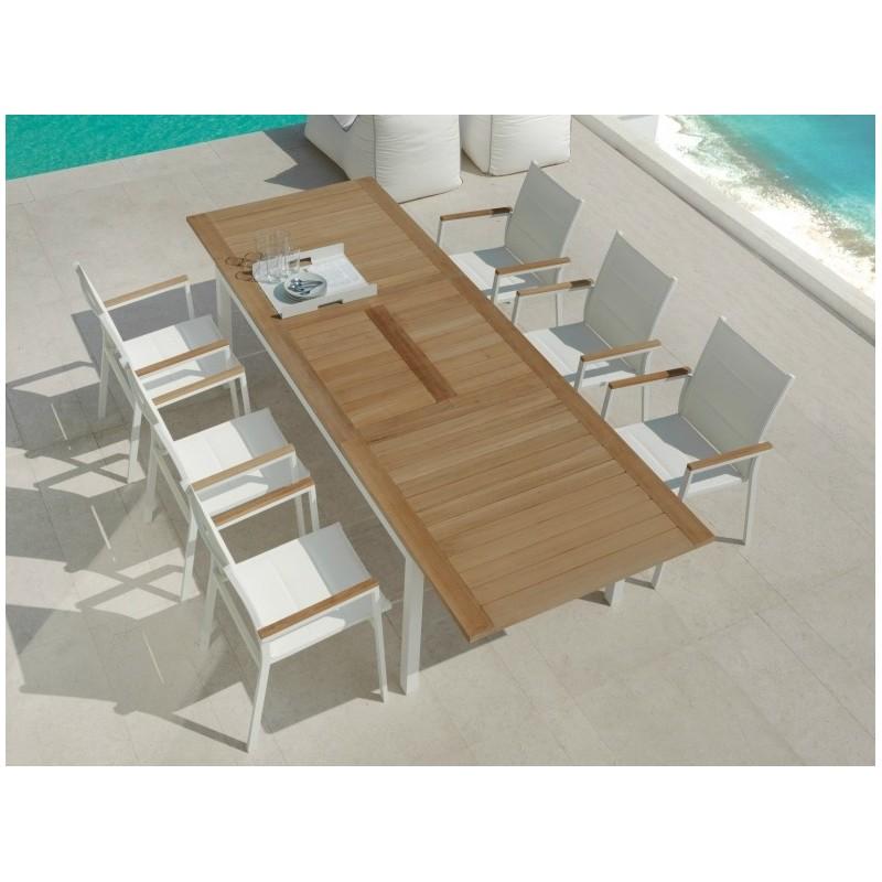 Talenti Timber Teak Garden Table 156