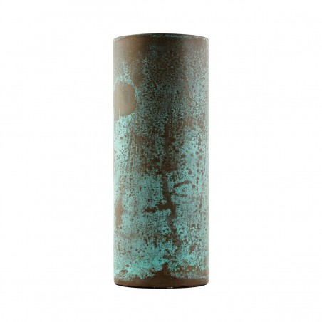 House Doctor Brass Effect Vase - Green