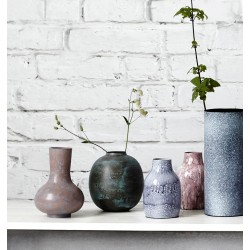House Doctor Brass Effect Vase - Green