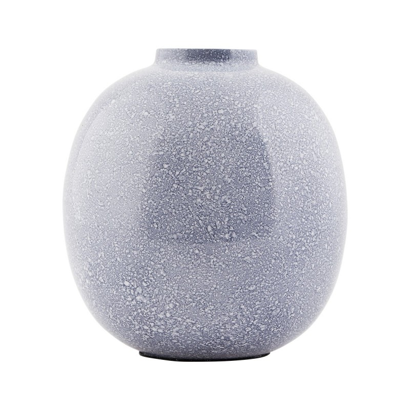 House Doctor Iron Effect Vase - Blue and Grey