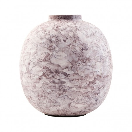 House Doctor Iron Effect Vase - Dusty Pink and Brown