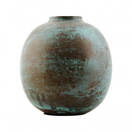 House Doctor Brass Effect Vase in Green