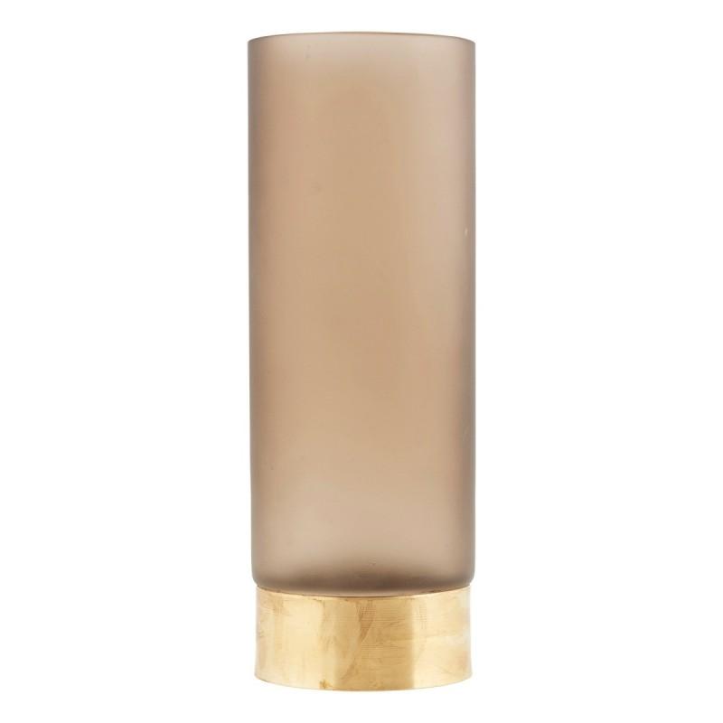 House Doctor Base Glass Vase In Light Brown