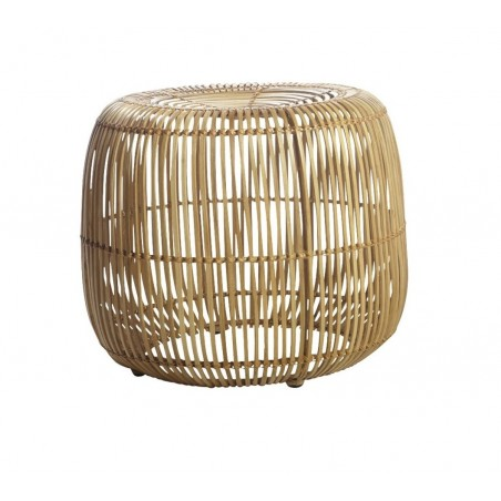 House Doctor Modern Rattan and Iron Black Stool