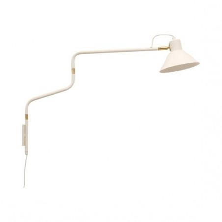 Hubsch White and Gold Wall Lamp