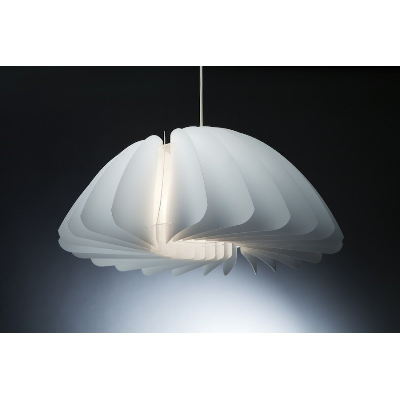 Primrose Twist White Pendant Lamp Shade Norla Design