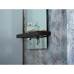 Portrait Mirror with Shelf - Walnut