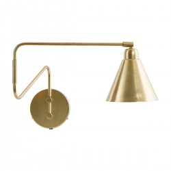 House Doctor Game Wall Lamp in Brass and White