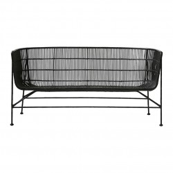 House Doctor Coon Sofa in Black Rattan