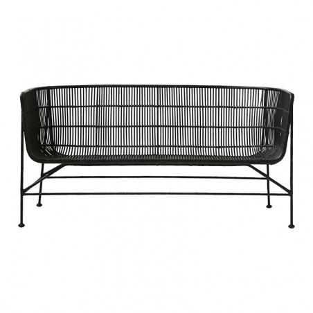 House Doctor Cuun Sofa in Black Rattan