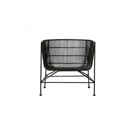 House Doctor Coon Armchair in Black Rattan