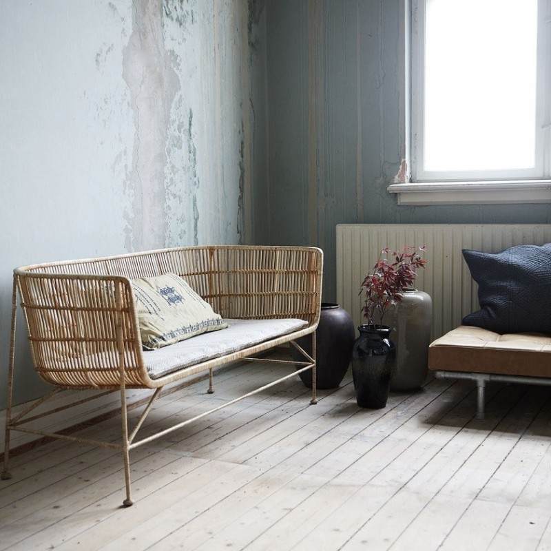 House Doctor Cuun Sofa in Natural Rattan