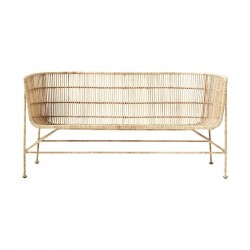 House Doctor Coon Sofa in Natural Rattan