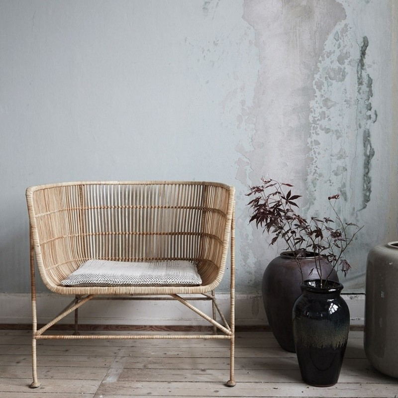 House Doctor Cuun Armchair in Natural Rattan