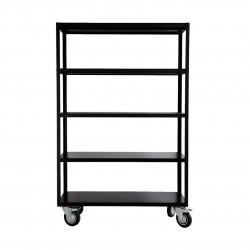 House Doctor Rack Trolley in Matt Black