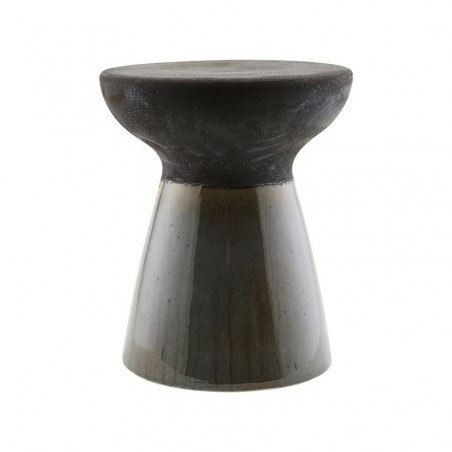House Doctor Pablo Stool in Black/Shellish Mud