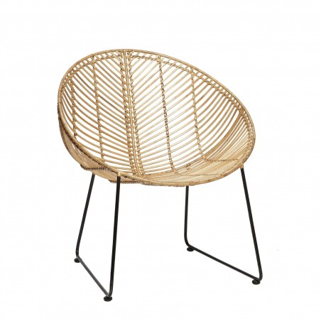 CHAIR, ROUND, RATTAN, NATURE