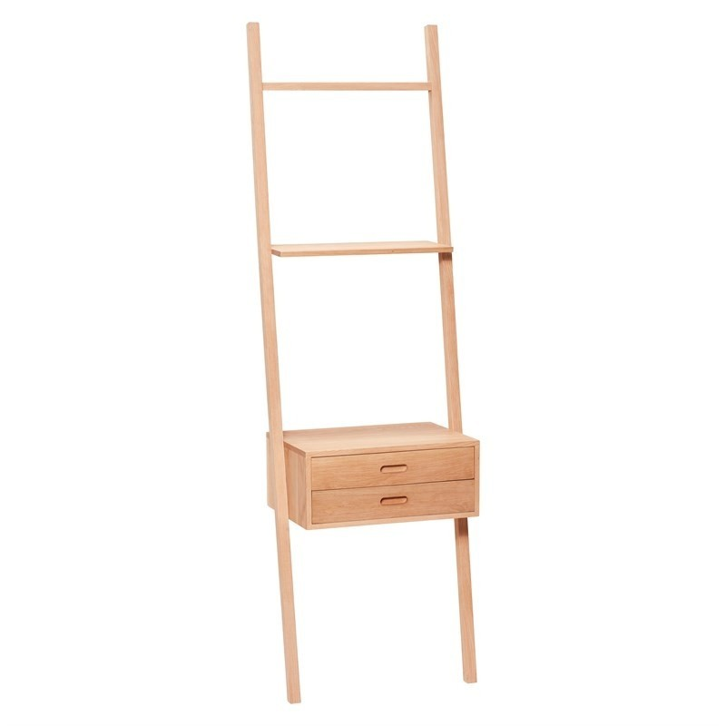 Hubsch Ladder Style Shelving in Solid Oak