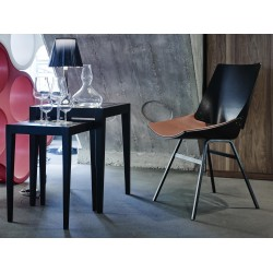 Rex Kralj Shell Dining Chair with Leather Seat