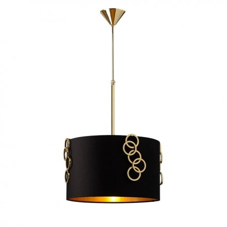 Villa Lumi Genoa Pendant Light | Black | Gold
