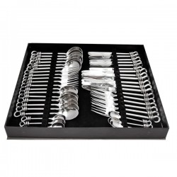 Culinary Concepts 42 Piece Polished Knot Boxed Cutlery Set