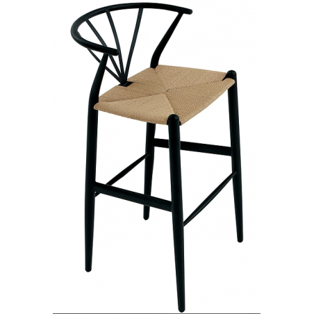 Dan-Form Delta Barstool | Black | Nature