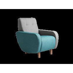 Custom Form Panda Armchair   Silver-Turquoise