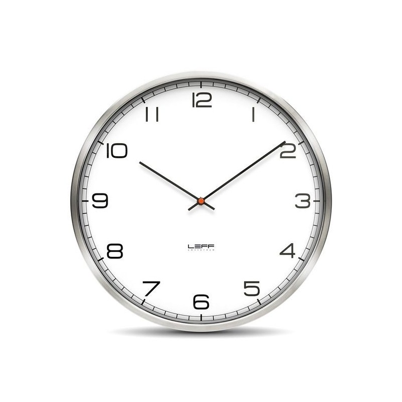 Huygens Wall Clock One 45cm Stainless Steel White Arabic