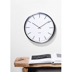 Huygens Wall Clock One 45cm Stainless Steel White Index