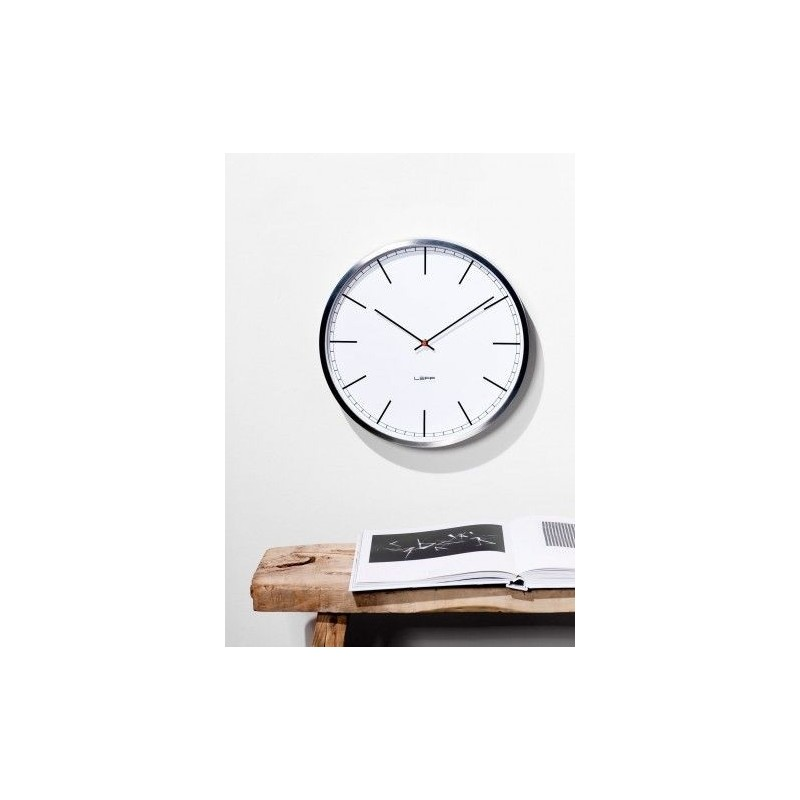 LEFF Amsterdam Wall Clock One 45cm Stainless Steel White Index
