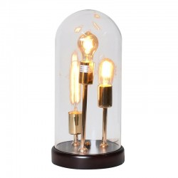 Glass Dome Table Lamp   3 bulbs