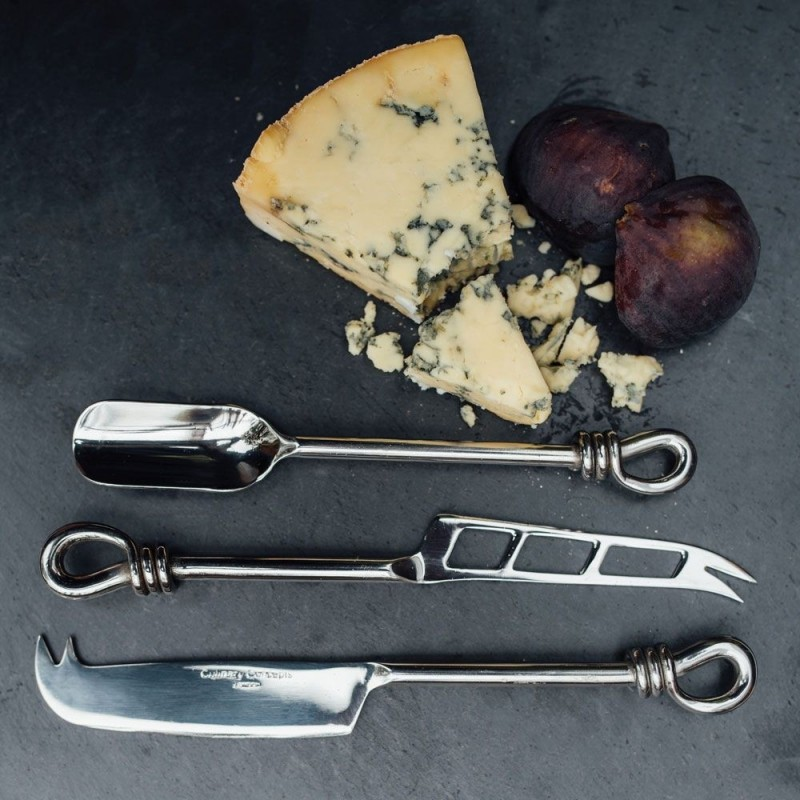 Polished Knot Traditional, Soft Cheese Knife & Stilton Scoop Set from Culinary Concepts