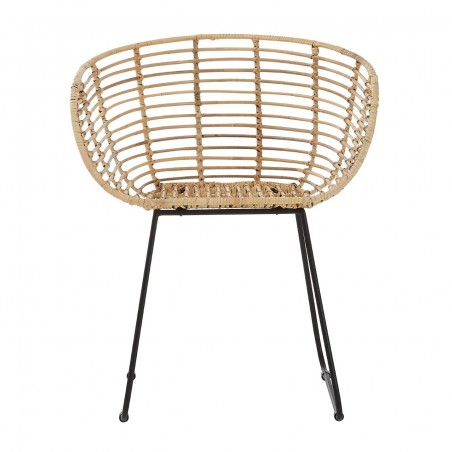 Natural Rattan Curved Occasional Chair