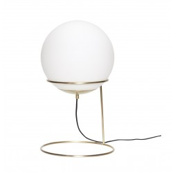 Floor lamp in Metal Brass and Opal Glass