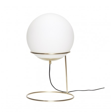 Hubsch Floor Lamp in Metal Brass and Opal Glass